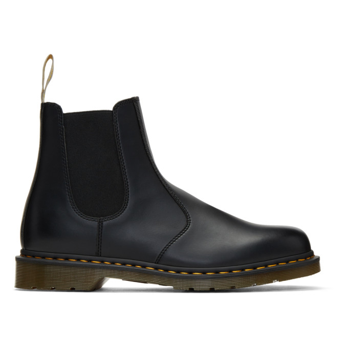 Faux Leather 2976 Chelsea Boots In Black Smooth - Black
