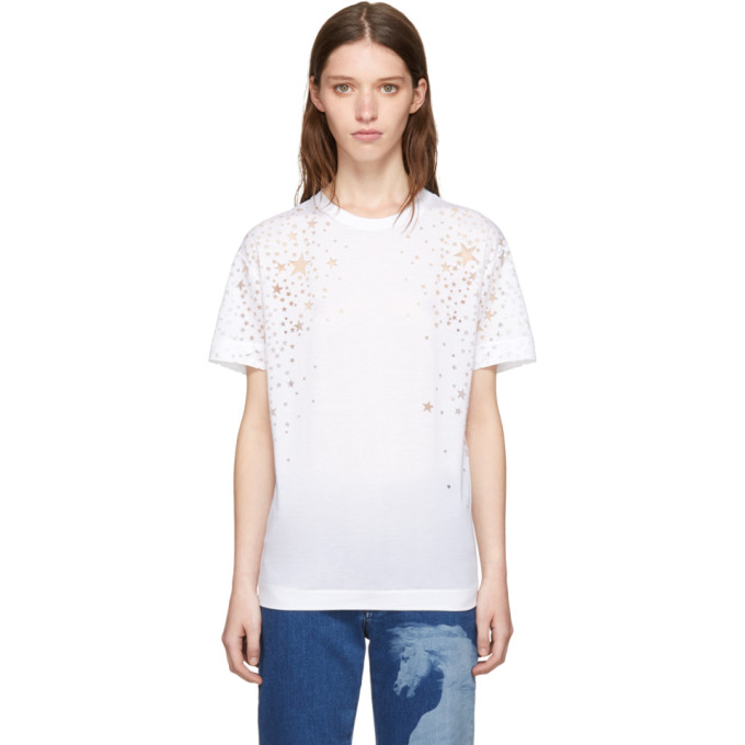 STELLA MCCARTNEY WHITE STAR T-SHIRT