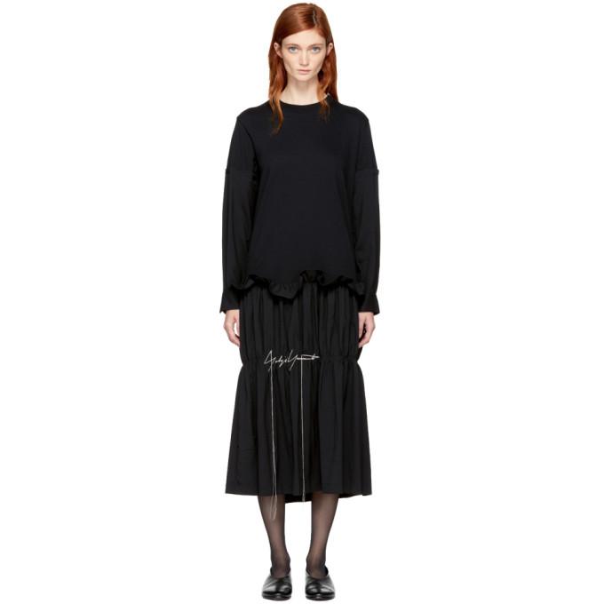 Yohji Yamamoto YOHJI YAMAMOTO BLACK T-SHIRT DRESS