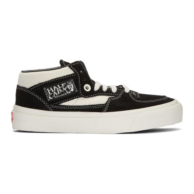 Vans Black   Off-White Suede Og Half Cab Lx Mid-Top Sneakers  6768ee1d0