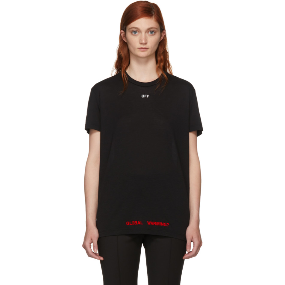 Ssense Exclusive Black Cherry Flower Oversized T Shirt by Off White