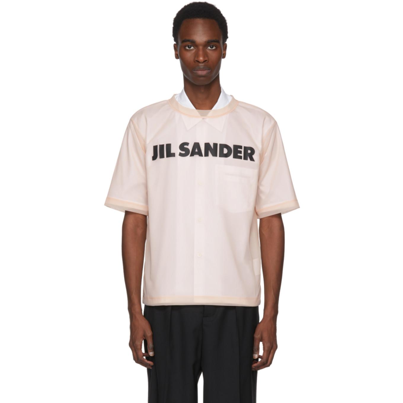 Pink Mesh Logo T Shirt by Jil Sander