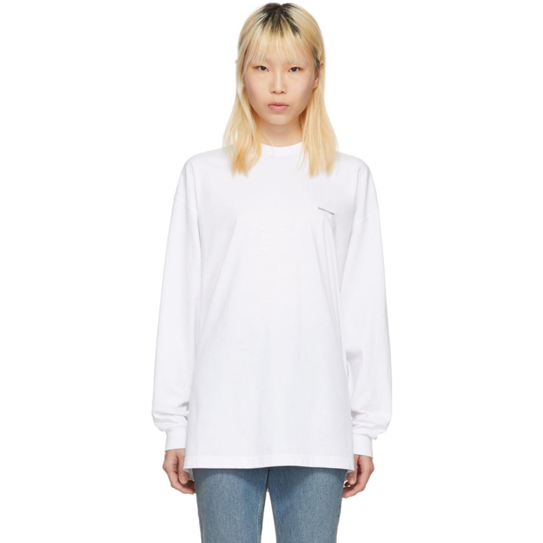 White Classic Jersey T Shirt by Balenciaga