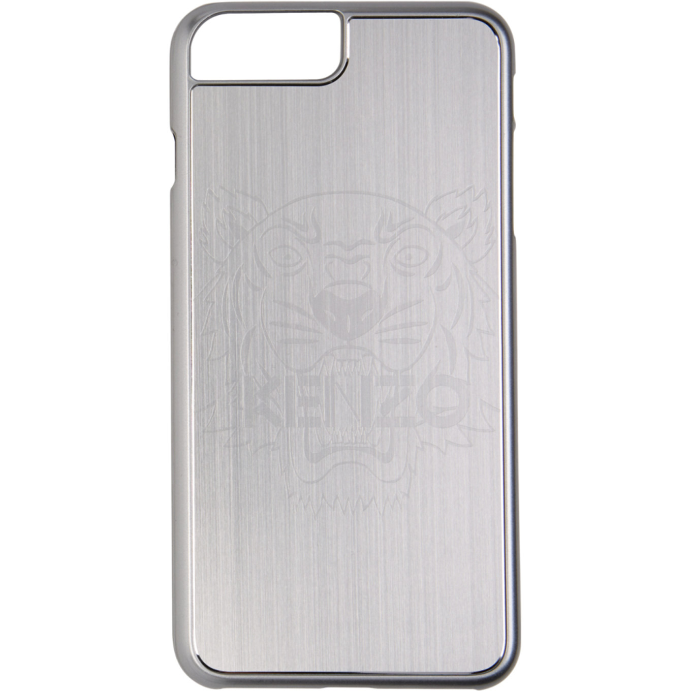 Silver Aluminium Tiger Head I Phone 7 Plus & 8 Plus Case by Kenzo