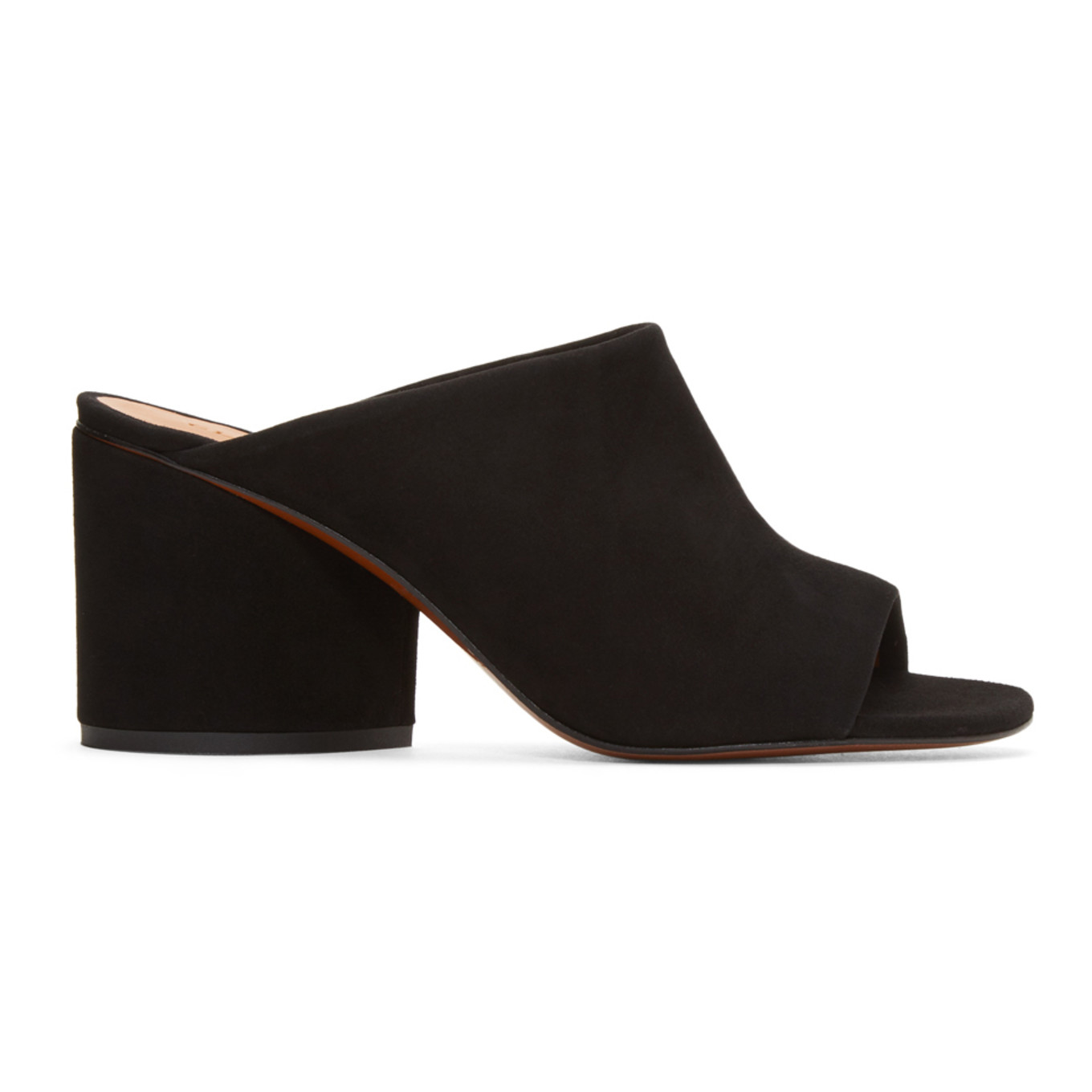 Black Suede Caren Mules by Clergerie