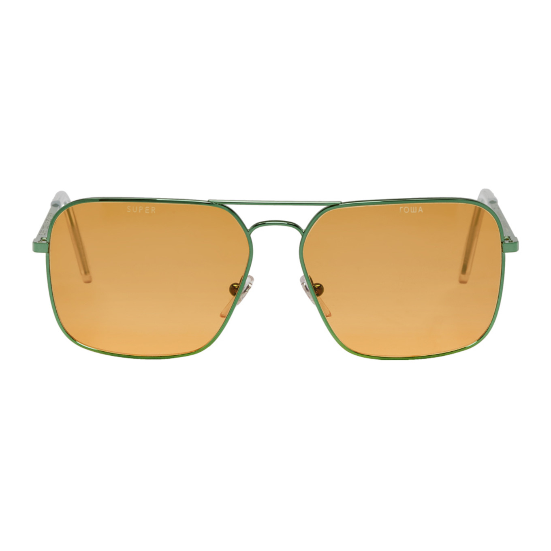 Green & Orange Super Edition Iggy Sunglasses by Gosha Rubchinskiy