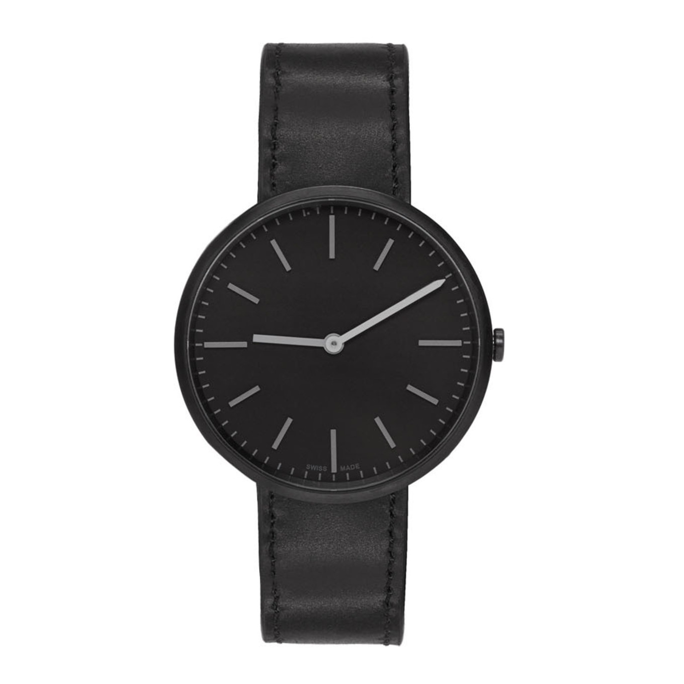 Gunmetal & Black Leather M37 Two Hand Watch by Uniform Wares