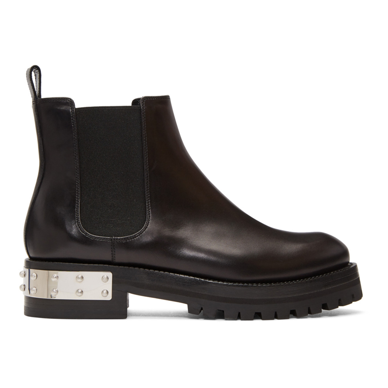 Black Chelsea Boots by Alexander Mcqueen