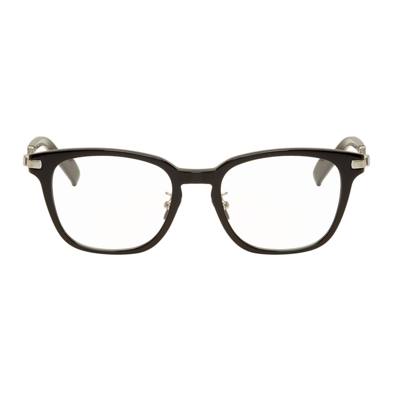 Black & Silver Square Glasses by Yohji Yamamoto