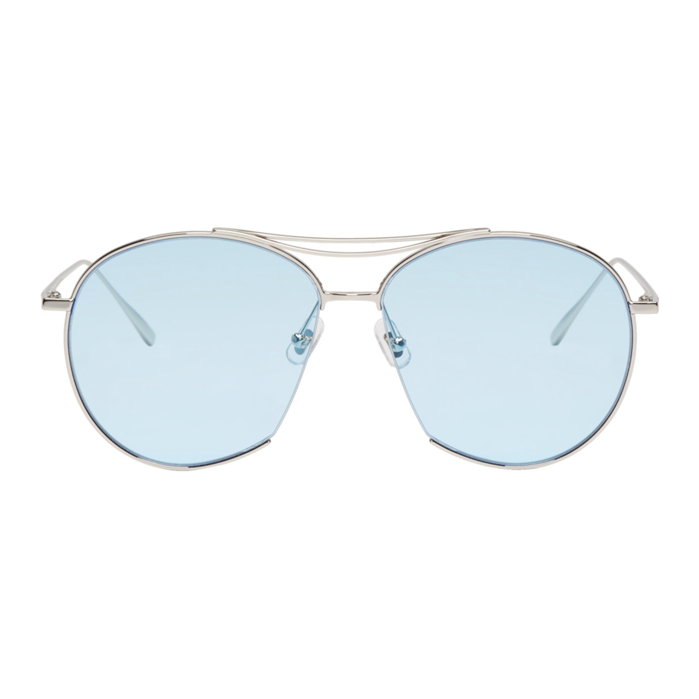 Gentle Monster Silver & Blue Jumping Jack Sunglasses