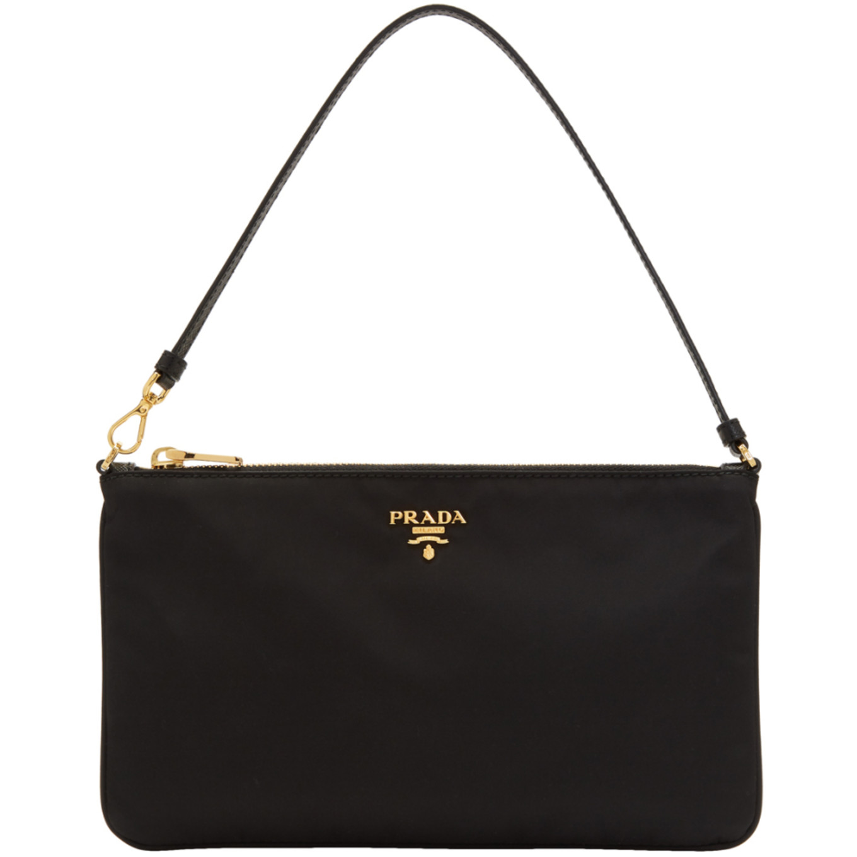 c305f7605df1 Shoptagr | Black Nylon Pouch Shoulder Bag by Prada
