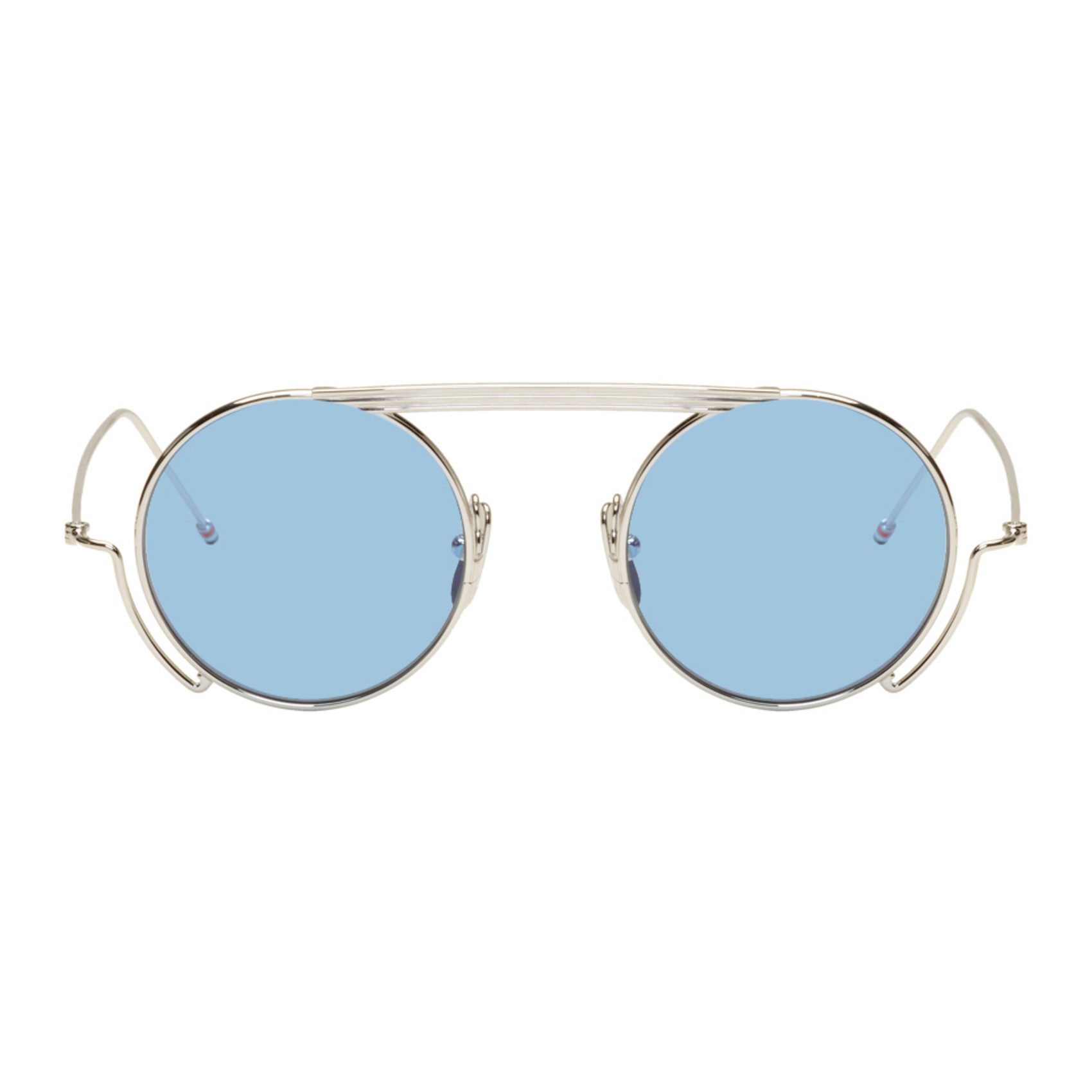 Silver Tb 111 Sunglasses by Thom Browne
