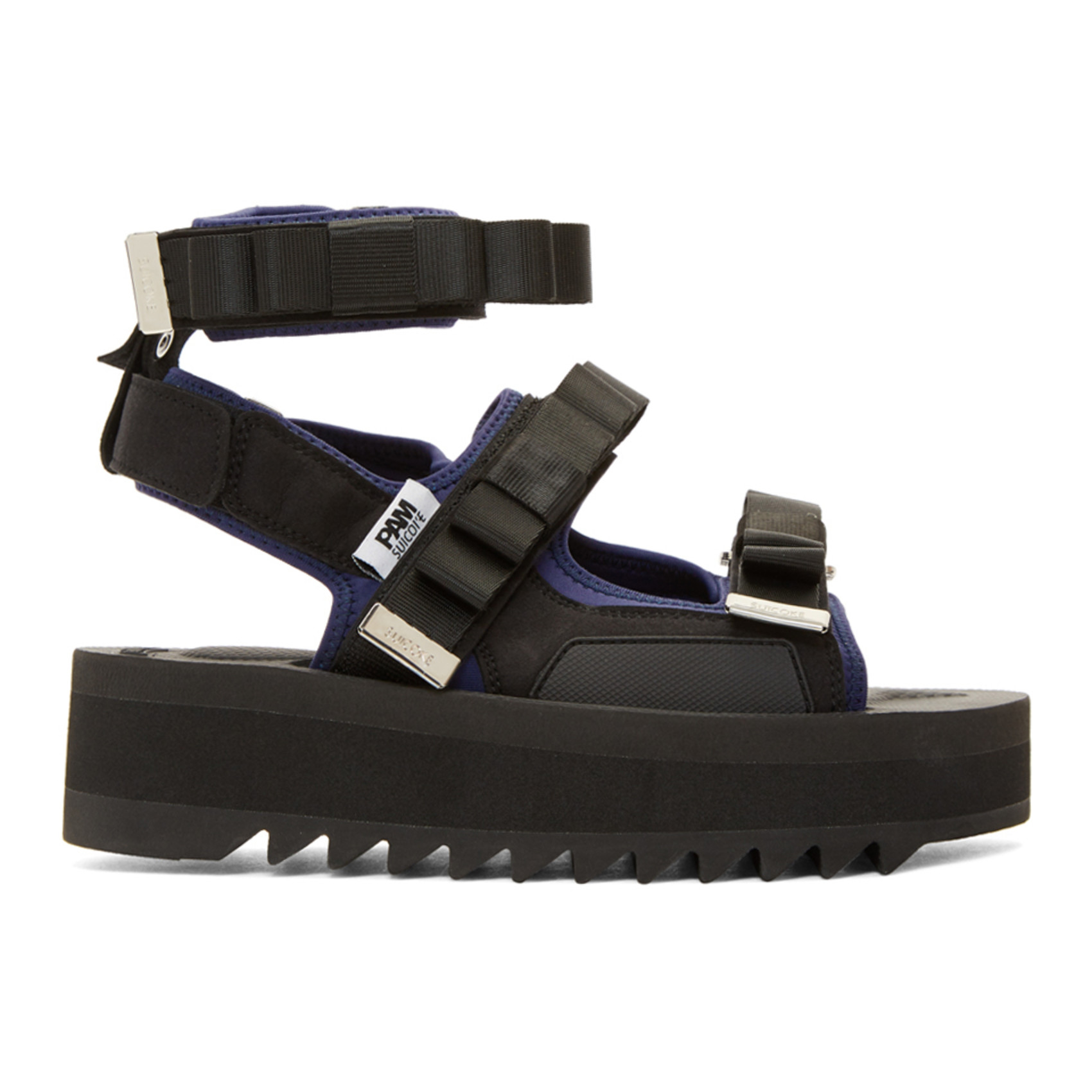 Black Suicoke Edition Bow Platform Sandals by Perks And Mini