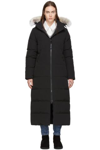 Canada Goose - Black Down & Fur Mystique Parka