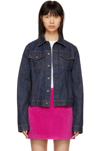 Helmut Lang - Blue Re-Edition Denim Stripe Jacket