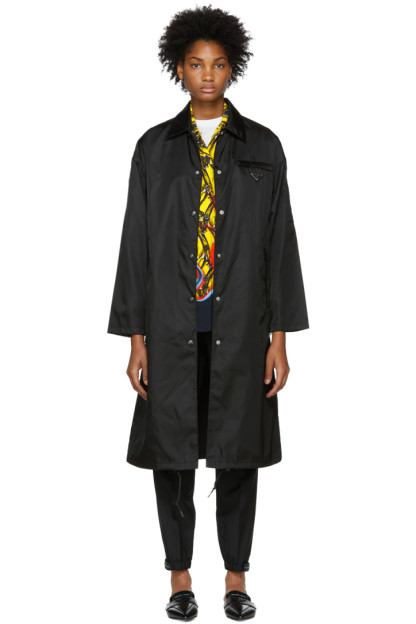 Prada - Black Long Trench Coat
