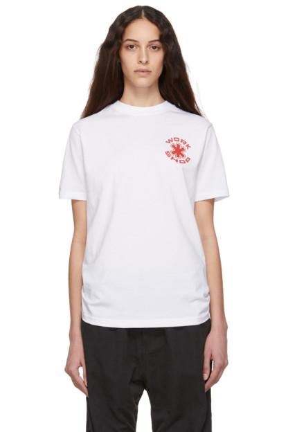 032c - White Cosmic Workshop Logo T-Shirt