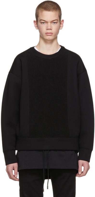 Diesel Black Gold Black Scuba Knit Sweatshirt