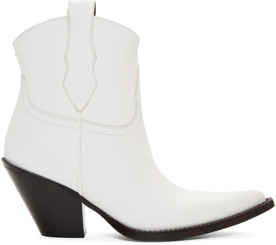 Maison Margiela White Low Mexas Boots