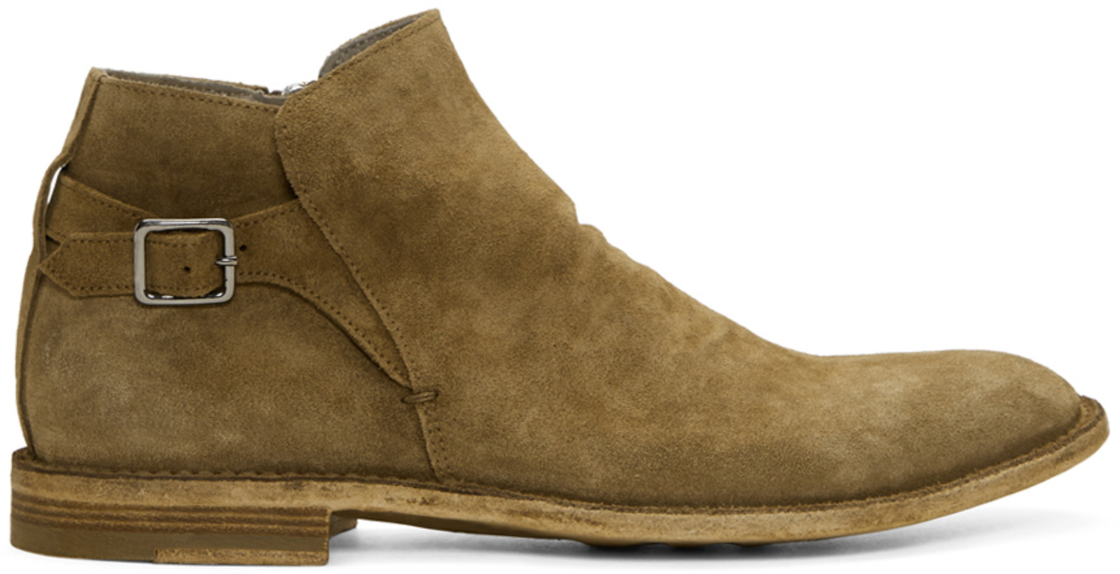 Officine Creative Brown Suede Standard 16 Boots