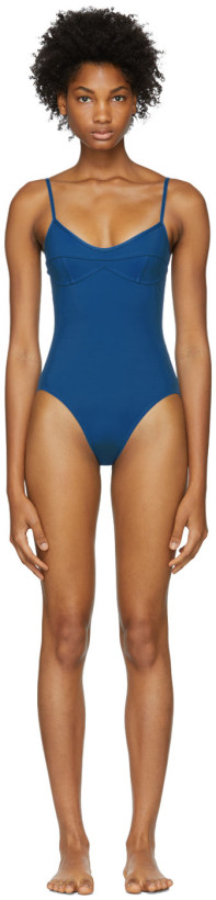 Her Line Blue Sabine One-Piece Swimsuit