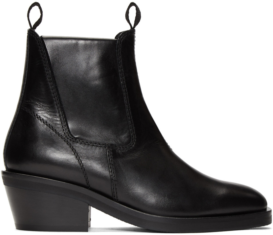 Acne Studios Black Leather Chelsea Boots