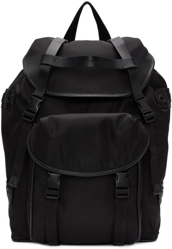 Neil Barrett Black Military-Style Slime Backpack