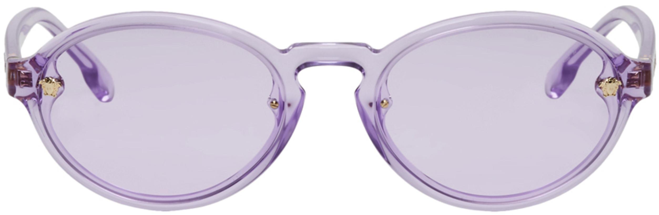 Versace Purple Oval Sunglasses