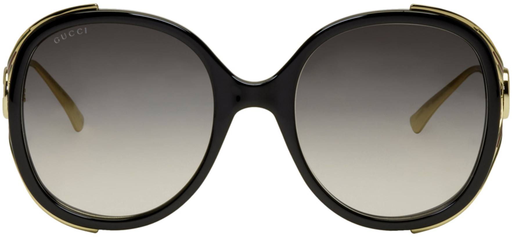 Gucci Black & Gold Injected Sunglasses
