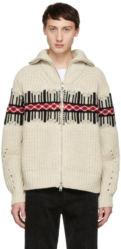 Isabel Marant Off-White Dack Zip-Up Sweater