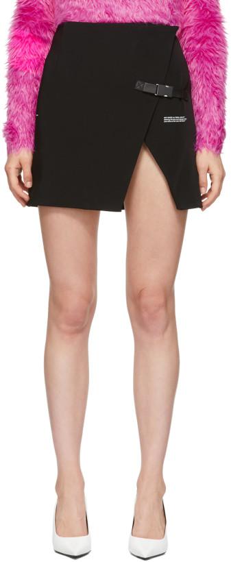 Off-White Black Stretch Wallet Miniskirt