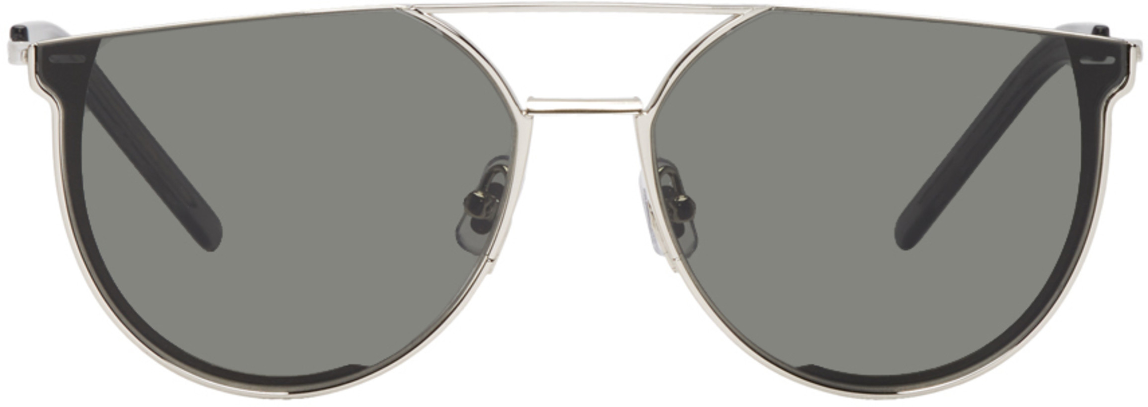 Gentle Monster Silver & Grey K-1 Sunglasses