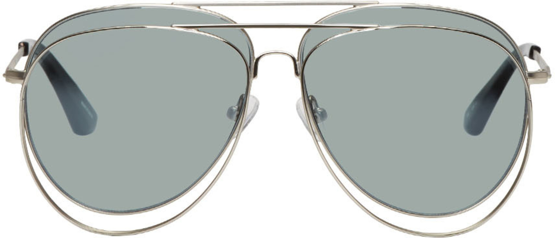 Bless Silver Linda Farrow Edition Double Sunglasses
