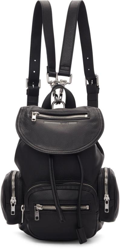 McQ Alexander McQueen Black Mini Loveless Backpack