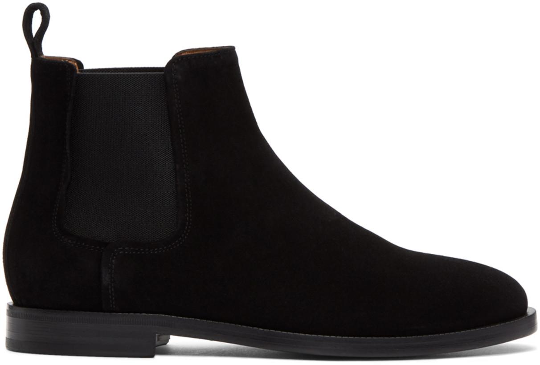 Lanvin Men's Black Suede Chelsea Boots