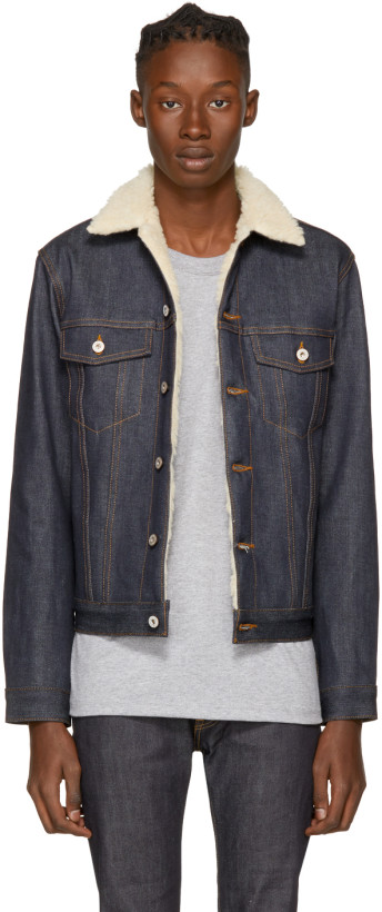 Naked & Famous Blue Left Hand Twill Denim Jacket