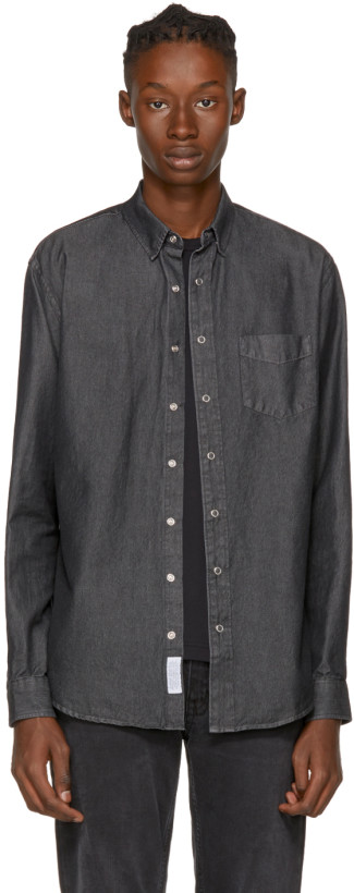 Schnayderman's Grey Leisure Denim One Shirt