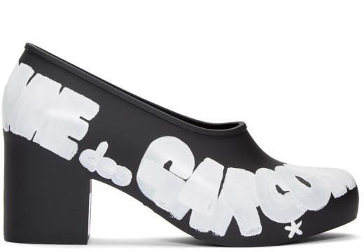 Comme des Garçons - Black Melissa Edition Painted Logo Heels