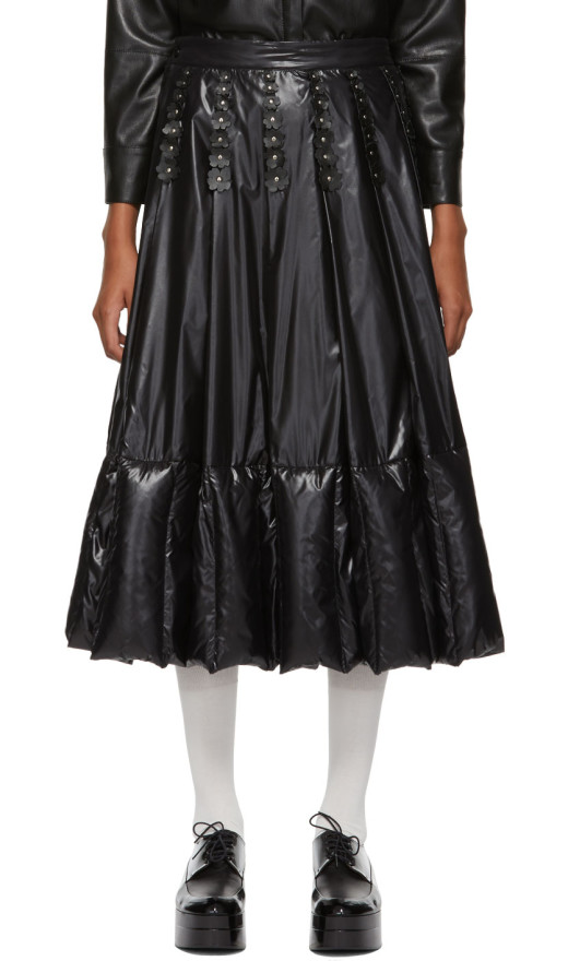 Moncler Genius - 6 Moncler Noir Kei Ninomiya Black Nylon Flowers Skirt