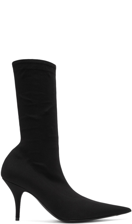 Balenciaga - Black Stretch Crepe Boots