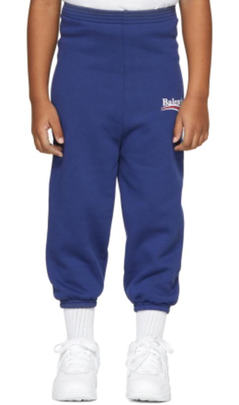 Balenciaga Kids - Blue Campaign Logo Lounge Pants