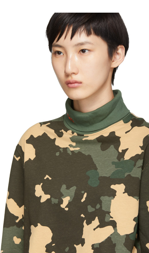 032c - Green Camouflage Wwb Turtleneck