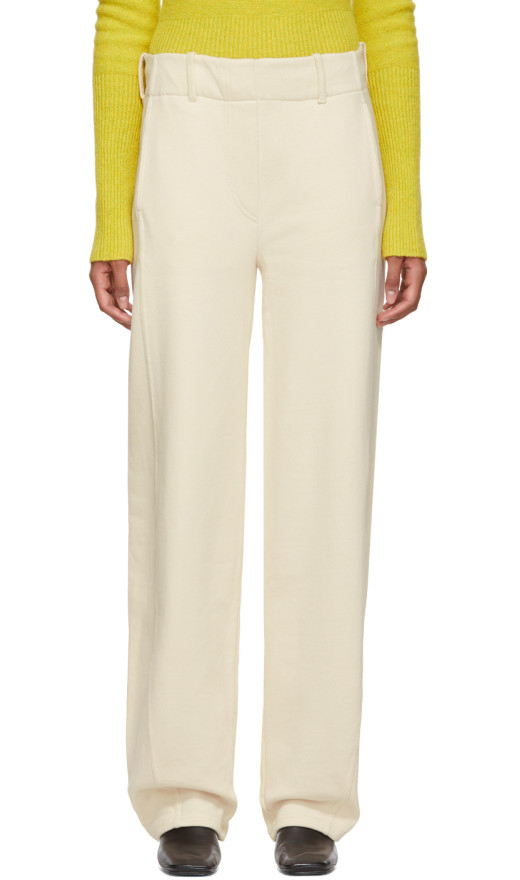 Lemaire - Beige Large Twisted Lounge Pants