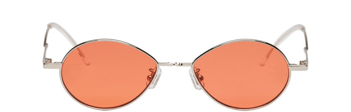 Gentle Monster - Silver And Orange Cobalt Sunglasses