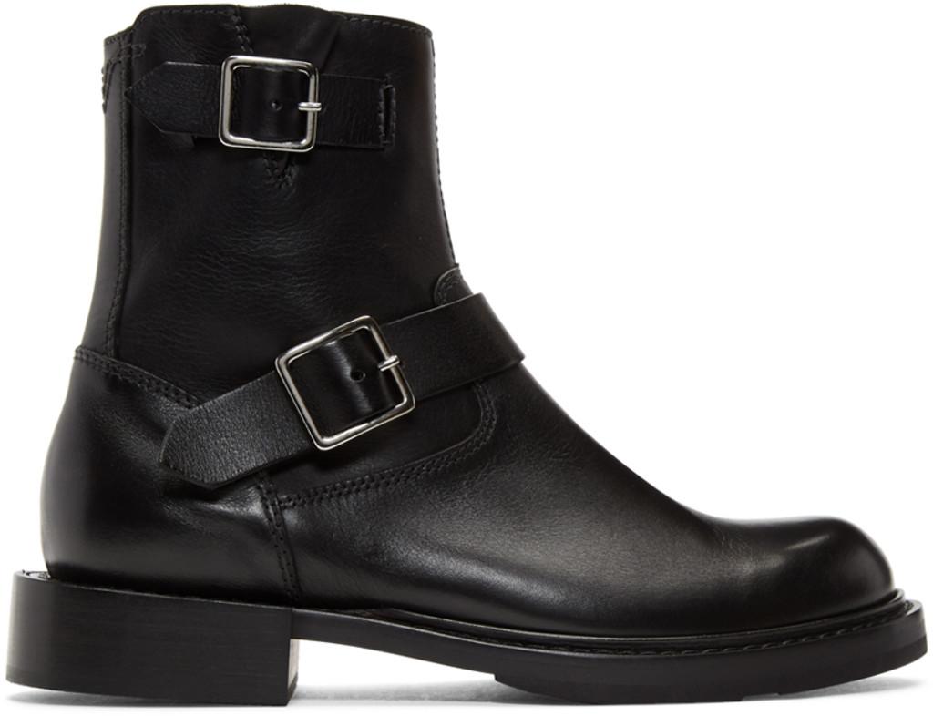 Heron Preston Black Cropped Blucher Lace-Up Boots uMMhKXOT3l