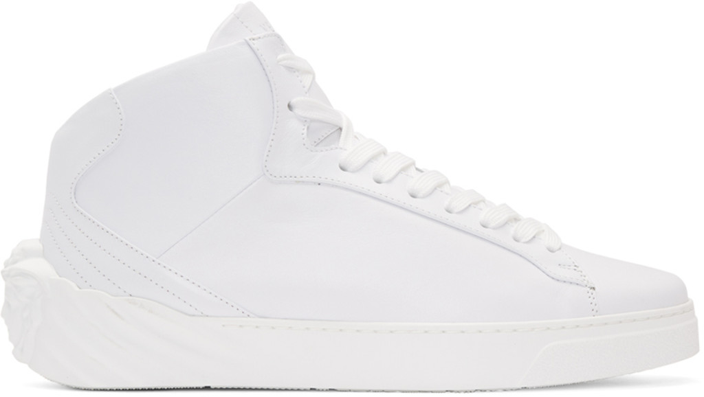 Fear of God White Back Medusa Head High-Top Sneakers Bj4pJbu1