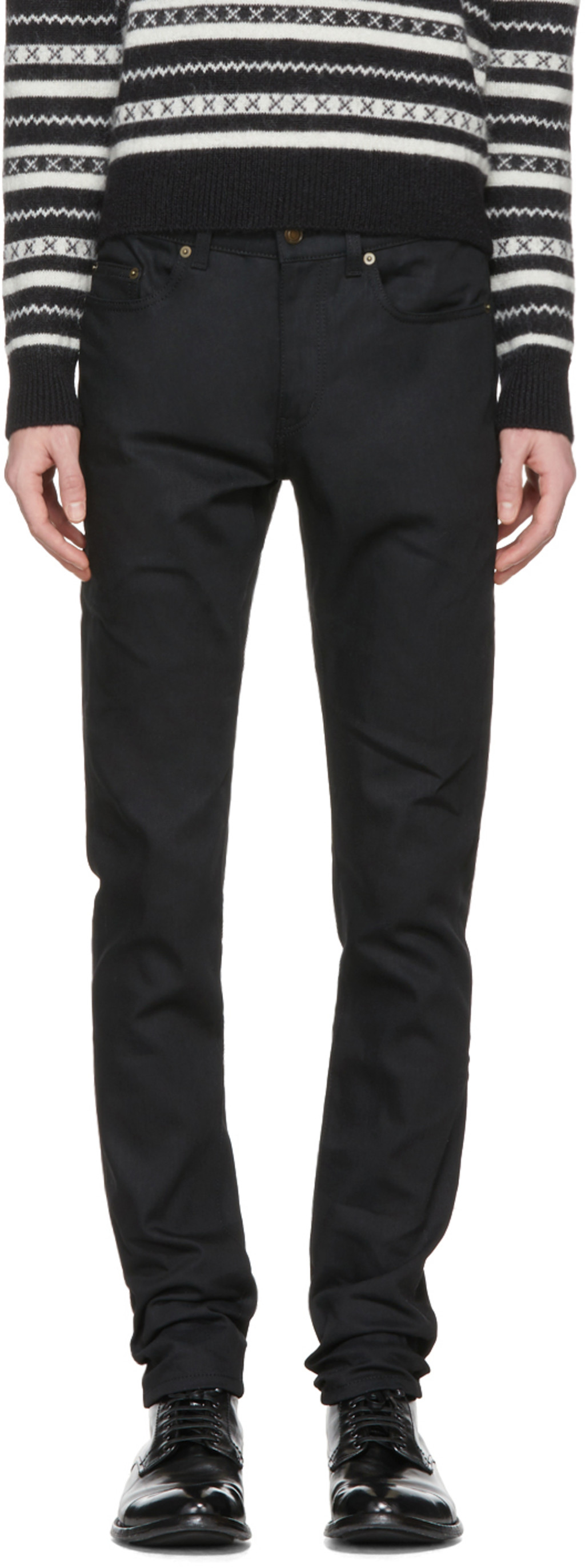 Cheap Sale Clearance Shipping Outlet Store Online classic fitted jeans - Black Saint Laurent Orange 100% Original Discount With Mastercard For Nice Cheap Online 7SkpG