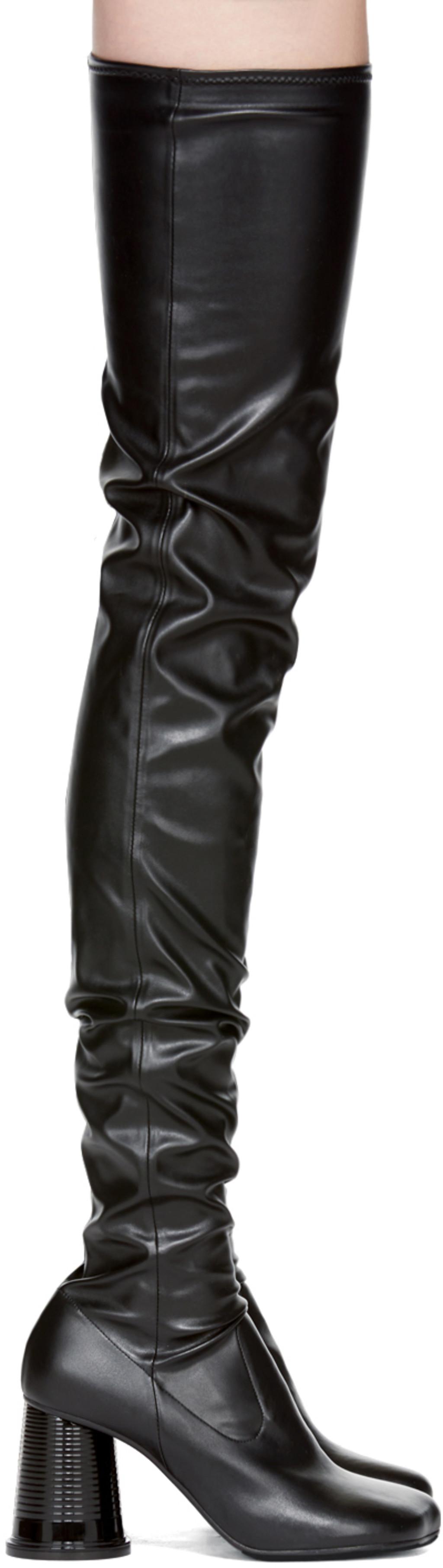 Burberry Black Ballerina Over-the-Knee Boots