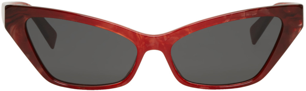 Red Le Matin Sunglasses Oliver Peoples pour Alain Mikli