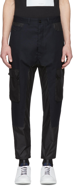 Diesel black gold coated jeans